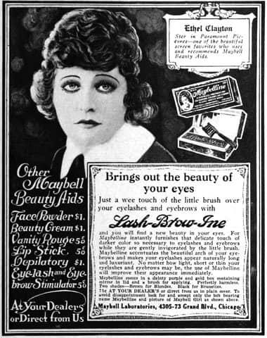 1920s makeup. 1920s makeup ads,