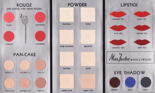 Cosmetics And Skin Colour Cards