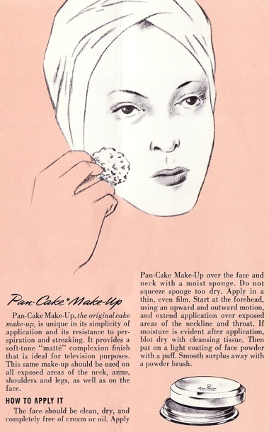 1958 Applying Max Factor Pan Cake Make Up