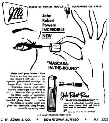 1952 John Robert Powers Mascara-In-the-Round