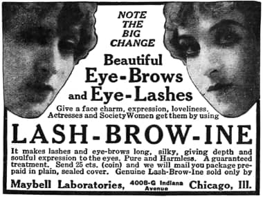 1916 Maybell Laboratories Lash-Brow-Ine