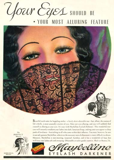 1933 Maybelline advertisement