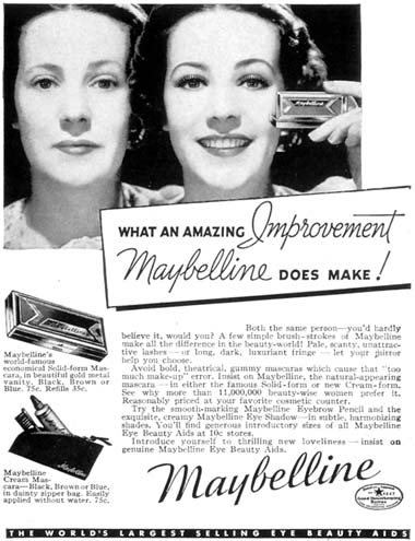 1937 Maybelline advertisement