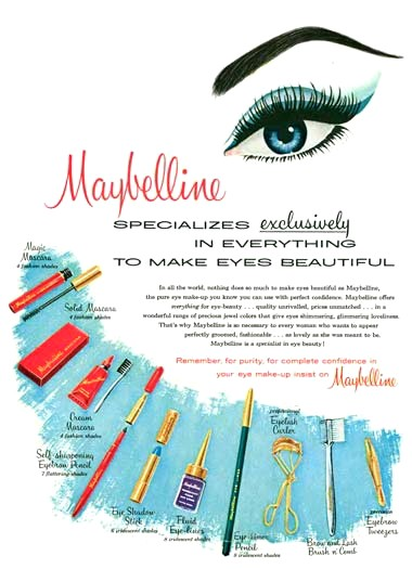1960 Maybelline advertisement