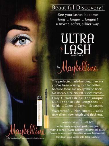 1964 Maybelline advertisement