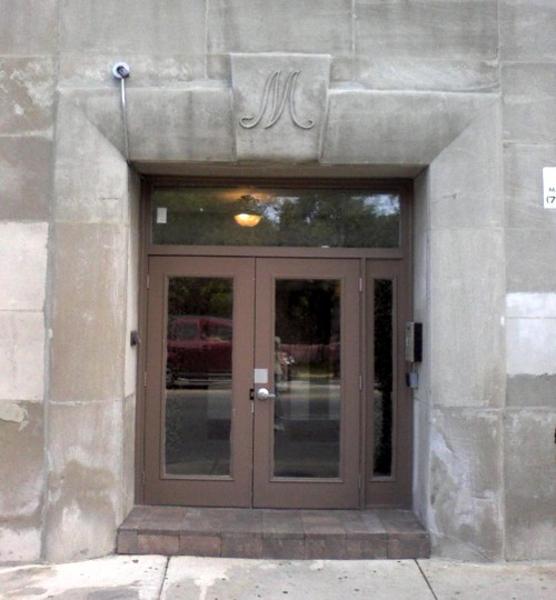 Door of the Maybelline headquarters