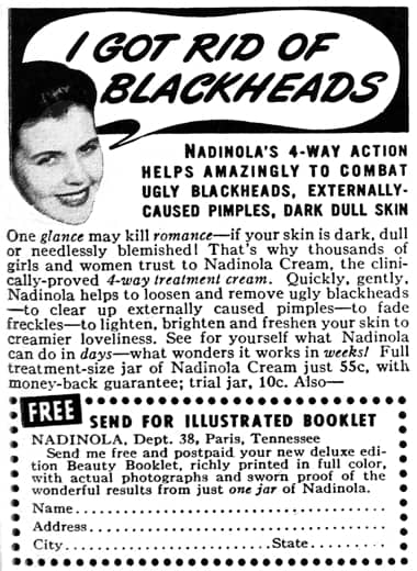 Cosmetics And Skin Blackheads